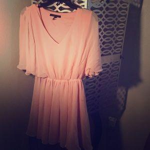 Sheer light pink dress